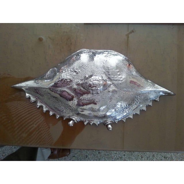Nickle-Plated Life Size Crab Form Lidded Dish by Angel & Zevallos C. 2017 For Sale In West Palm - Image 6 of 10