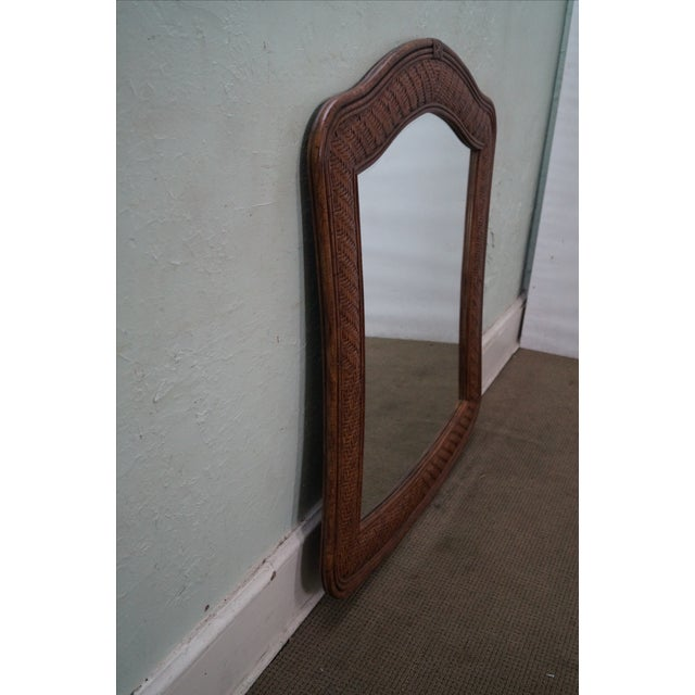 Lexington Tommy Bahama Rattan Frame Beveled Mirror For Sale - Image 5 of 10