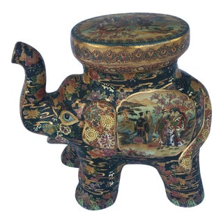 Royal Satsuma Elephant Garden Stool For Sale