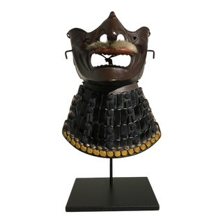 Japanese Taisho Period Samurai Face Mask, Menpo For Sale