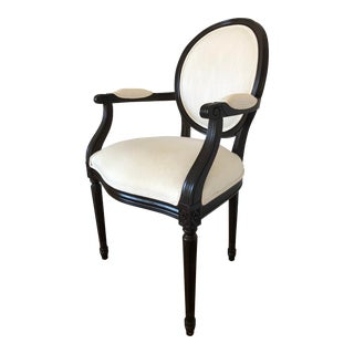 French Ethan Allen Round Back Accent/ Dining Chair For Sale