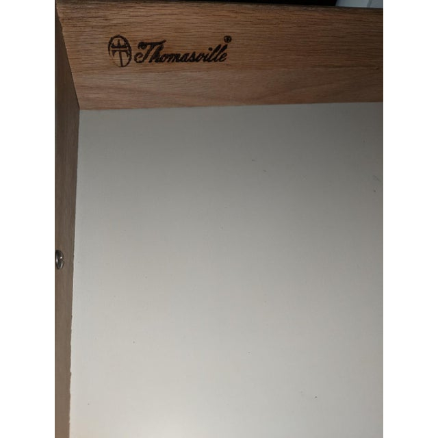 Faux Bamboo 1970s Hollywood Regency Thomasville Allegro Faux Bamboo White Desk For Sale - Image 7 of 8