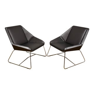 Nios Platinum Lounge Chairs - A Pair