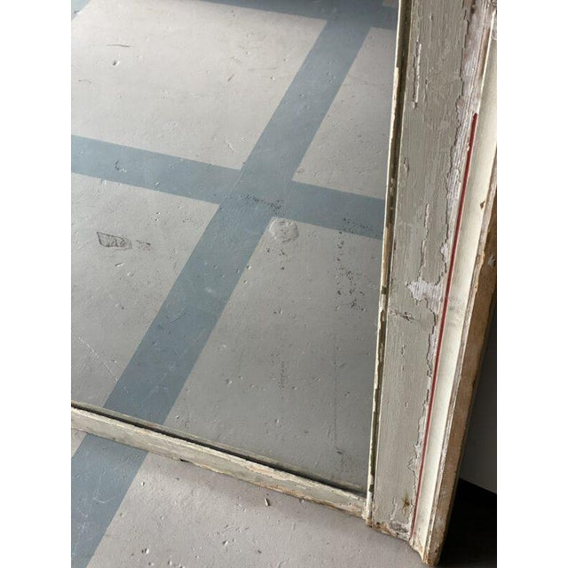 French Mid 19th Century French Painted Mirror With Red Trim For Sale - Image 3 of 6