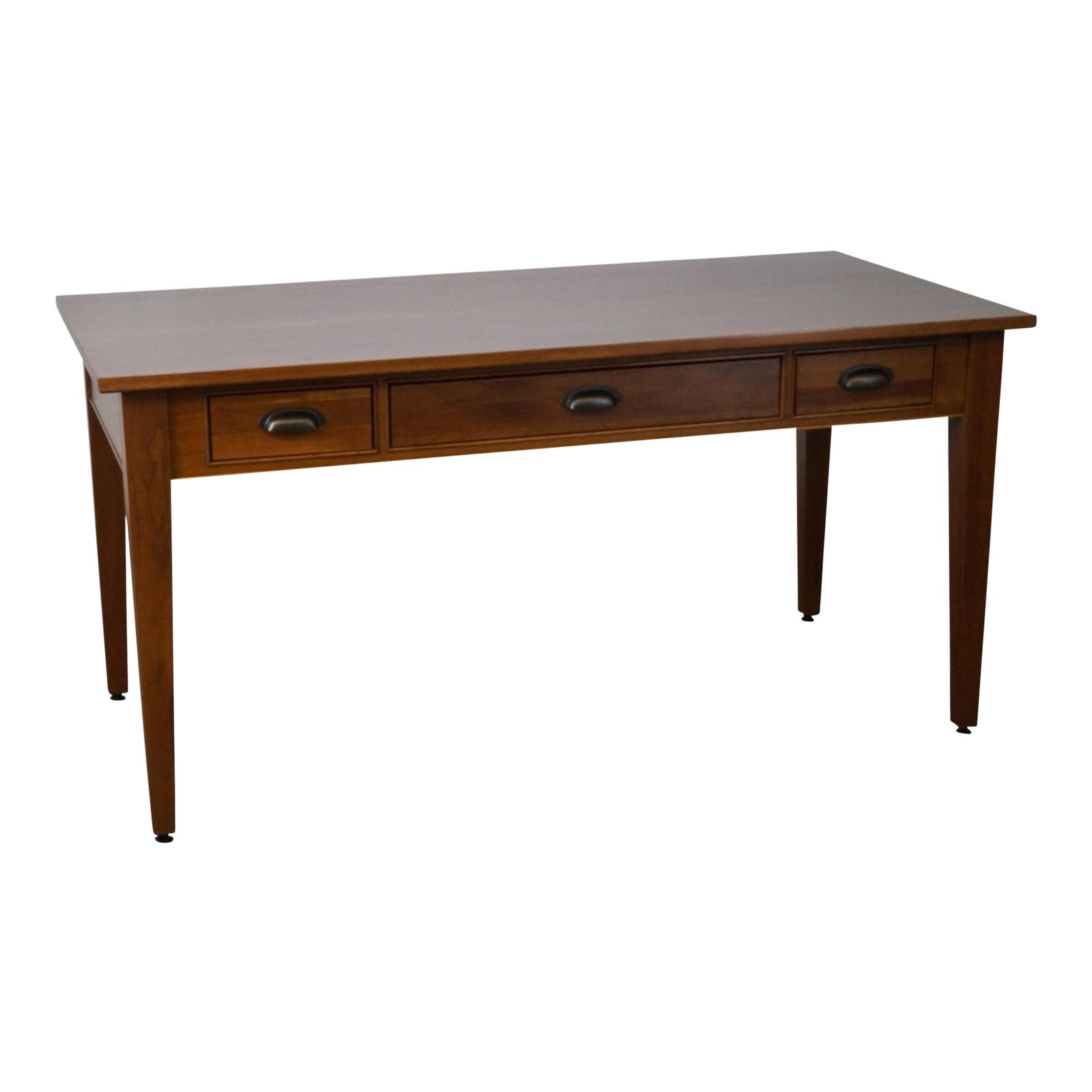 Restoration Hardware Solid Cherry Writing Desk By Michaels Furniture Chairish