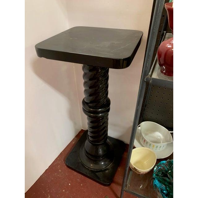 Mid-Century Modern 1960s Black Marble Pedestal For Sale - Image 3 of 7