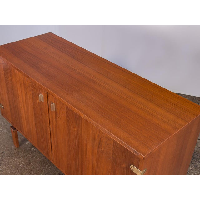 Lovig Design Small Teak Sideboard by Peter Lovig Nielsen For Sale - Image 4 of 10