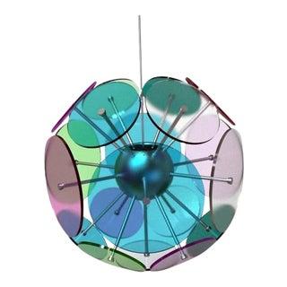 Modern Sphere Orbital Lenses Chandelier