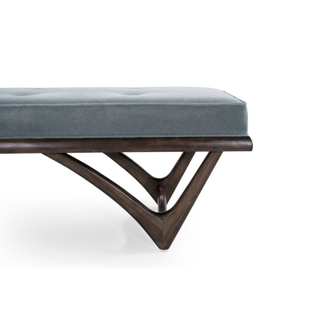 Modernist Sculptural Walnut Bench For Sale In New York - Image 6 of 10