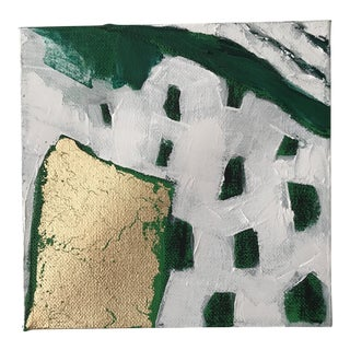 """Abstract """"Emerald City, 6"""" Original Painting by Alice Miles For Sale"""