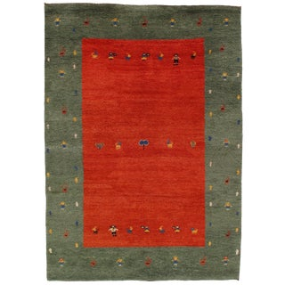Indian Gabbeh Rug - 6′ X 8′ For Sale