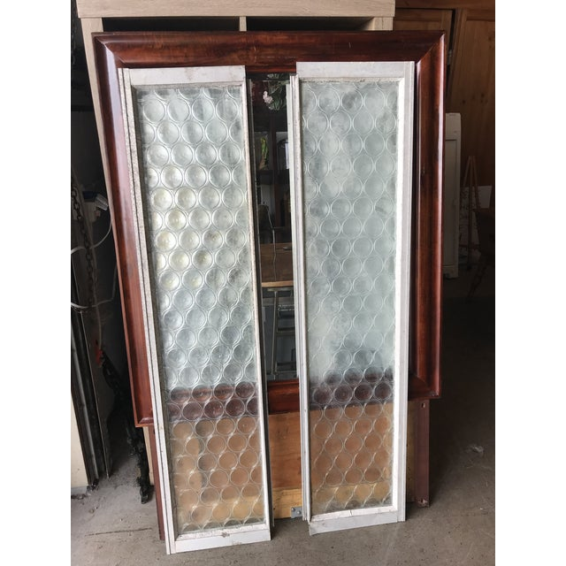 Vintage Bottle Glass Windows-A Pair For Sale - Image 13 of 13