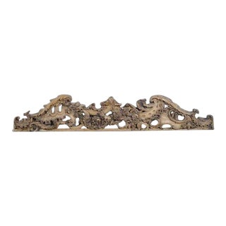 English Carved Wooden Architectural Fragment For Sale