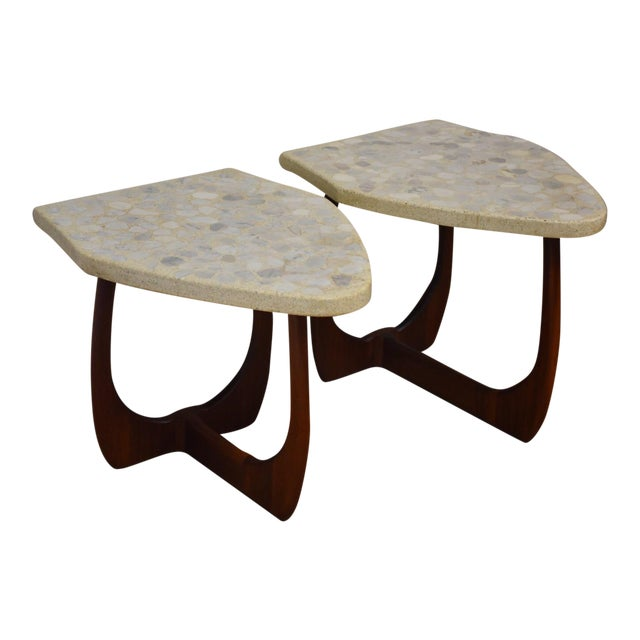 Harvey Probber Terrazzo End Tables - A Pair For Sale