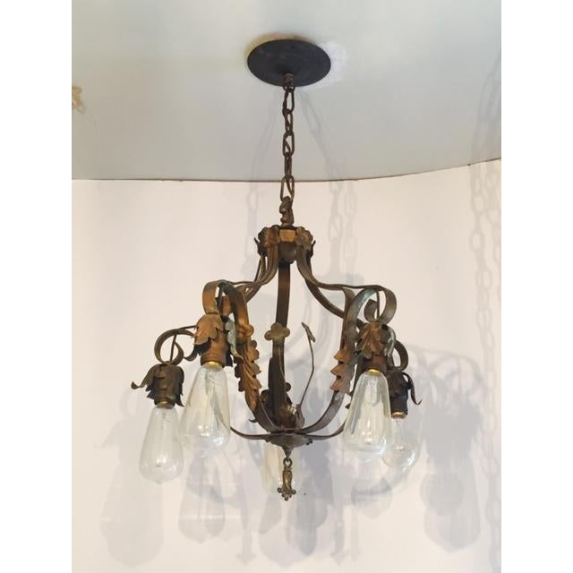 Spanish-Style Brass Chandelier - Image 2 of 6