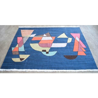 Paul Klee - Sailing Boats - Inspired Silk Hand Woven Area - Wall Rug 4′6″ × 5′9″ Preview