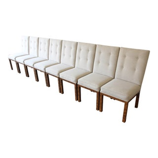 John Widdicomb Parsons Style Dining Chairs, Set of Eight For Sale
