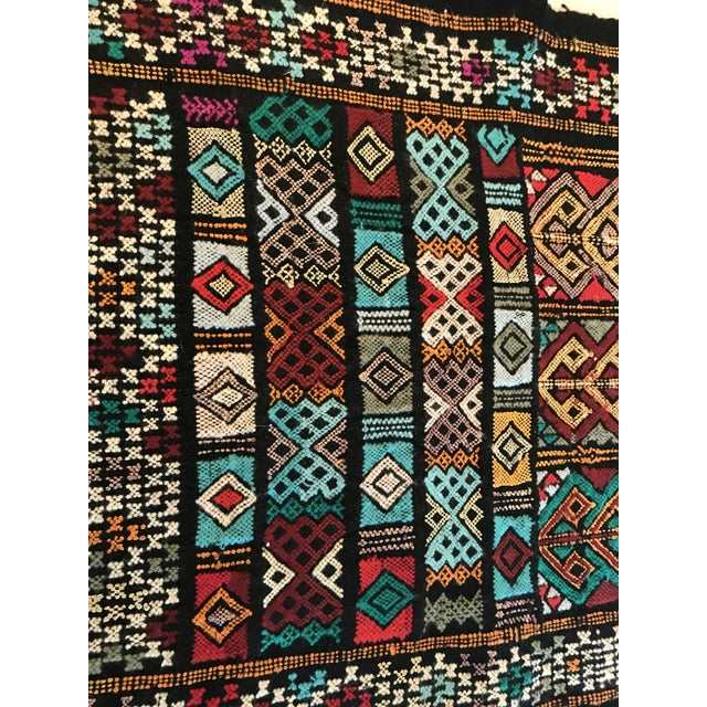 Great weaving on this colorful piece of art! Use as a table runner or a small rug. Very thick and substantial!