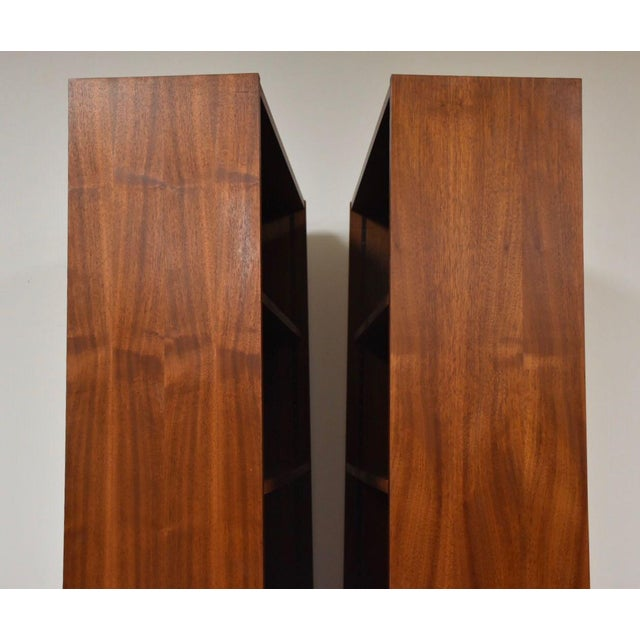 Large Walnut Bookcases- A Pair For Sale - Image 4 of 10