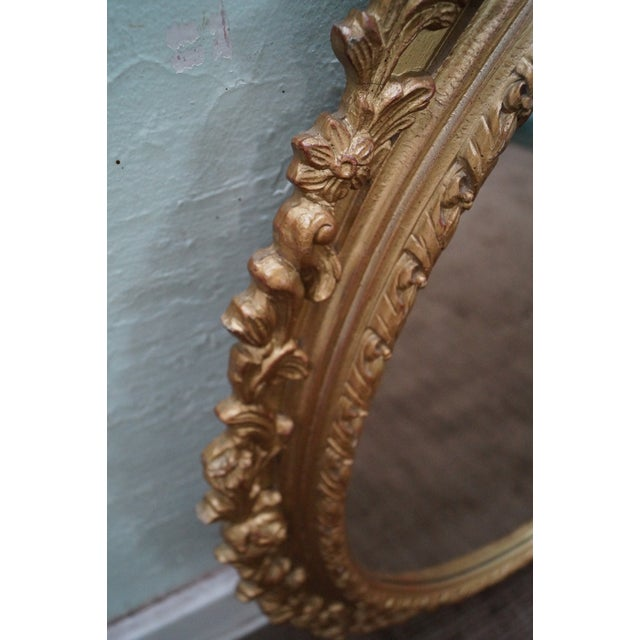 Carved Gilt Wood French Louis XV Style Mirror - Image 7 of 10