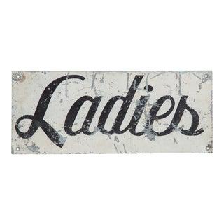 Vintage Ladies Painted Sign For Sale