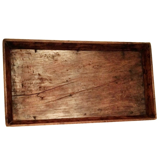 Antique Wood Bread Tray For Sale