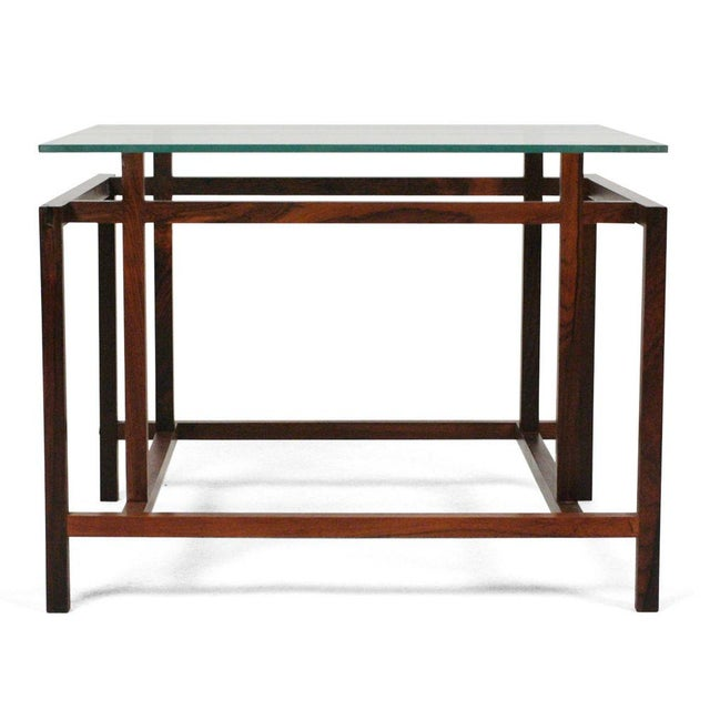 Komfort Rosewood Architectural Frame Side Tables - a Pair For Sale In New York - Image 6 of 6