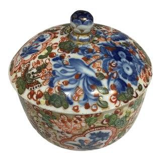 18th Century Vintage Meissen Porcelain Floral Round Trinket Box For Sale