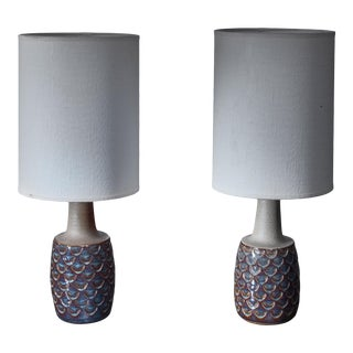Pair of Ceramic Table Lamps by Soholm, Denmark, 1960s For Sale