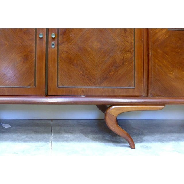 Monumental and Important Sculptural Credenza Giusseppe Scapinelli, circa 1960 For Sale In Miami - Image 6 of 10