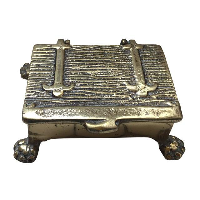 Mid-Century Brass Treasure Chest - Image 1 of 6