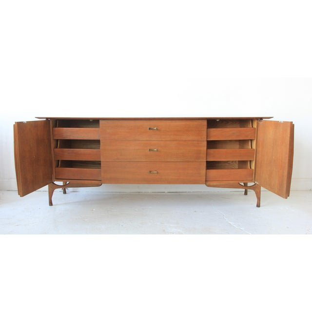 Mid-Century Modern Geometric 9-Drawer Dresser - Image 3 of 10