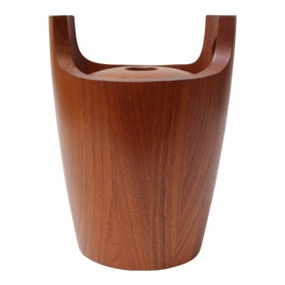 Danish Modern Staved Teak Ice Bucket by Nissen For Sale
