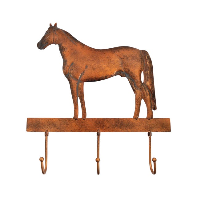 Copper Horse Wall Mounted Coat Hooks - Image 1 of 6