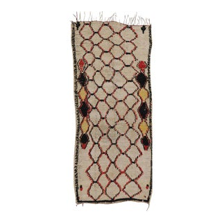 Mid-Century Modern Berber Moroccan Rug with Modern Contemporary Design