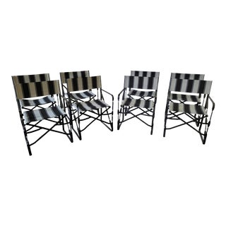 Vintage Outdoor Folding Director's Chairs - Set of 8 For Sale