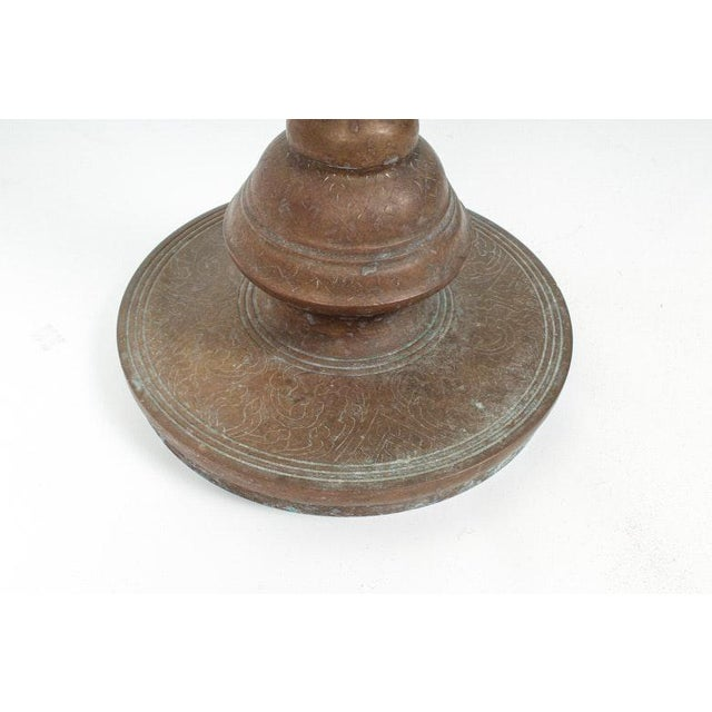Brass Enormous Early 21st Century Middle Eastern Brass and Copper Candlestick For Sale - Image 7 of 8