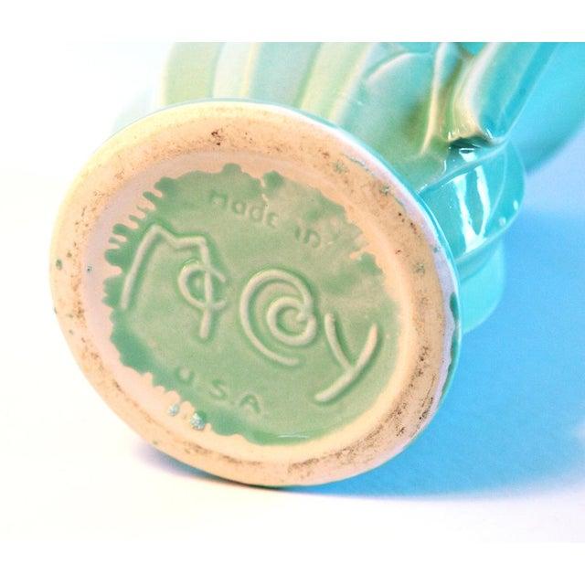 Vintage Aqua Mccoy Vase Usa Chairish