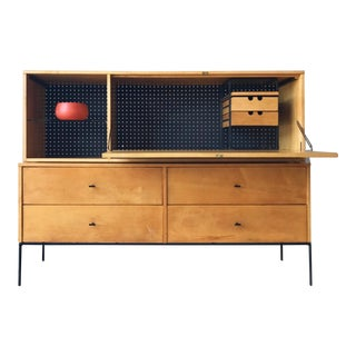 Paul McCobb Drop Lid Desk and 4 Drawer Chest For Sale