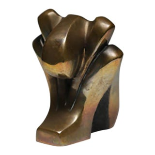 Small Signed Bronze, circa 1980 by Tom Bennet For Sale