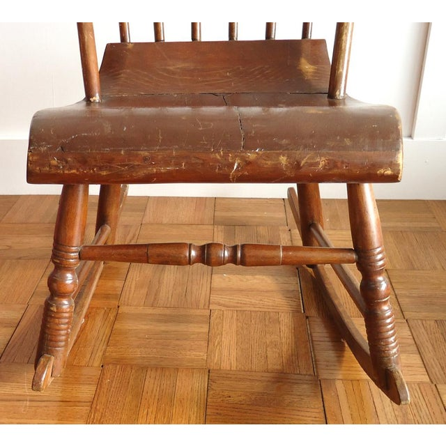 Antique Primitive Rocking Chair For Sale - Image 5 of 8
