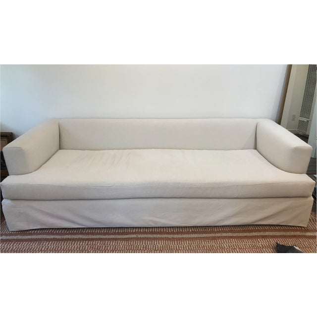 Re-Upholstered Pottery Barn Sofa For Sale In San Francisco - Image 6 of 6