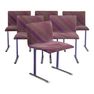 A Set of Six Saporiti Designed Dining Chairs, 1990s For Sale