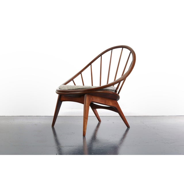 Mid-Century Modern Ib Kofod-Larsen for Selig Hoop Chairs - a Pair of Two (2) For Sale - Image 3 of 7