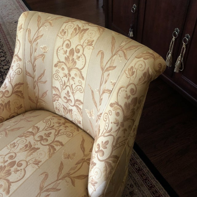 Yellow Traditional Pearson Gold Slipper Chair For Sale - Image 8 of 10