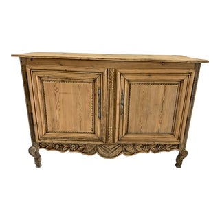 Late 19th Century Buffet Louis XV Style Bleached 2 Doors For Sale