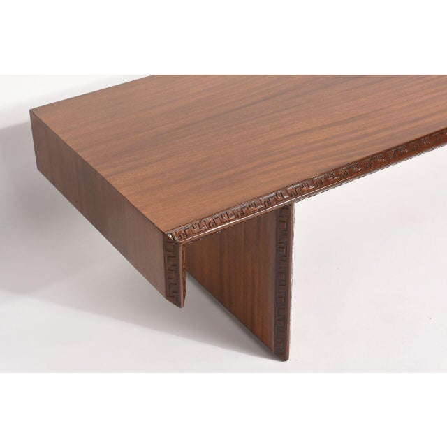 """Modern American Modern Mahogany """"Taliesin Group"""" Low Table or Bench, Frank Lloyd Wright For Sale - Image 3 of 5"""