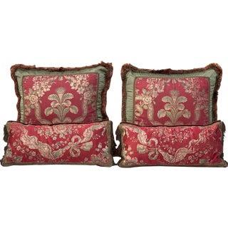 Silk Italian Pillows - Set of 4 For Sale