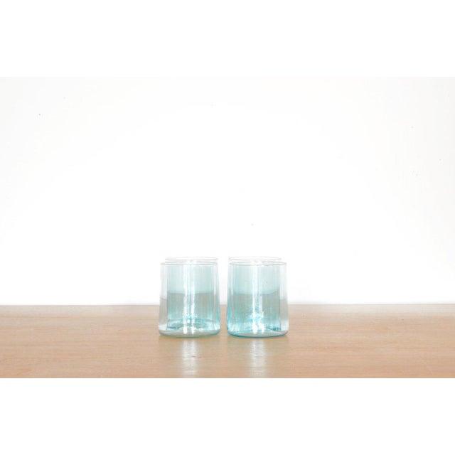 Belgian Klaar Prims Set of 4 'Cin Cin' Glasses - Copper Blue For Sale - Image 3 of 3