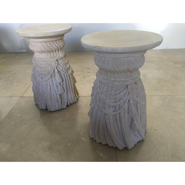 1970s Vintage Hollywood Regency Inspired Pedestals - A Pair For Sale In Miami - Image 6 of 6